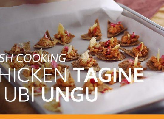 resep chicken tagine & ubi ungu