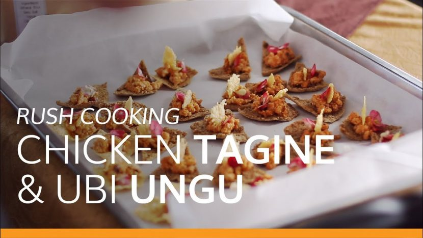 resep chicken tagine & ubi ungu